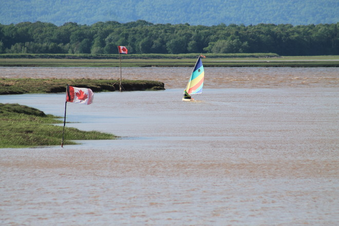 High Sailing at high Tide in the Wolfville Harbour 35 Harbourside Drive, Wolfville, NS B4P 2C1, Canada