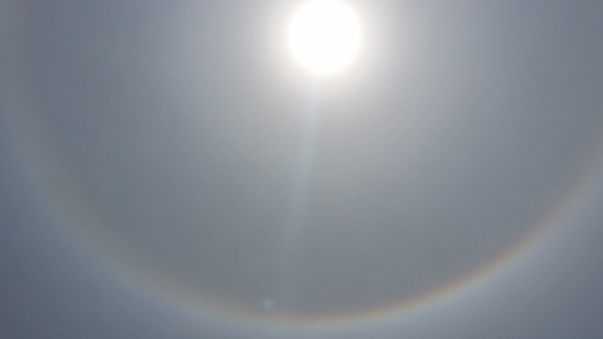 rainbow around the sun Oshawa, ON