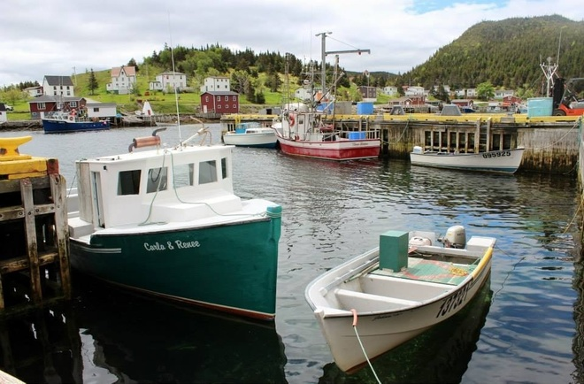 sunday on the wharf Petite Forte, Newfoundland and Labrador Canada