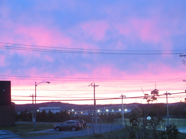 A bright sunset Mount Pearl, Newfoundland and Labrador Canada