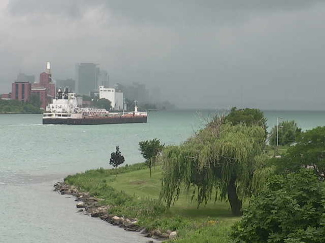 Great Lake Freighter Windsor On