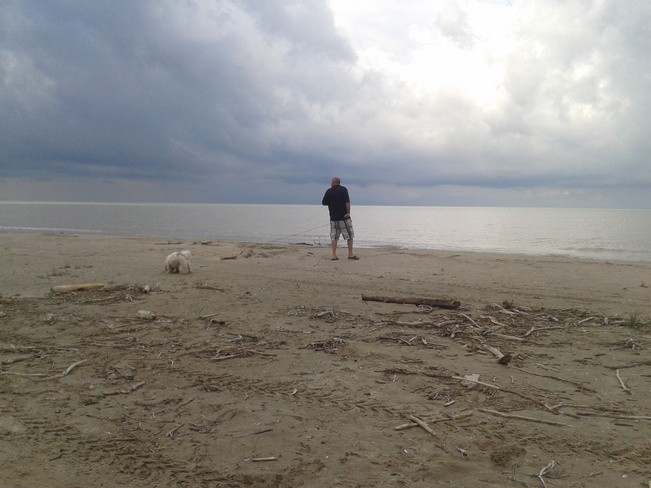 Dog beach in Port Burwell. Port Burwell Provincial Park, Port Burwell, ON