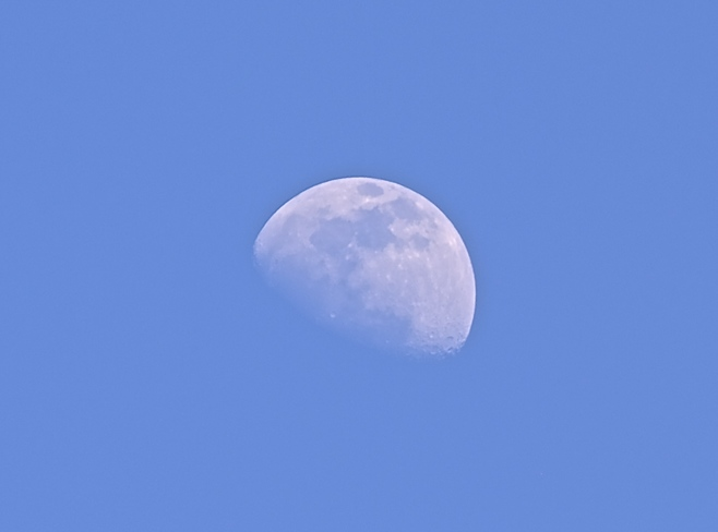 Moon in Late Afternoon. Belleville, ON