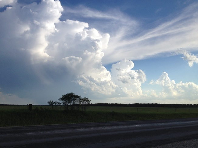 big cloud on the prairies Beausejour, Manitoba Canada