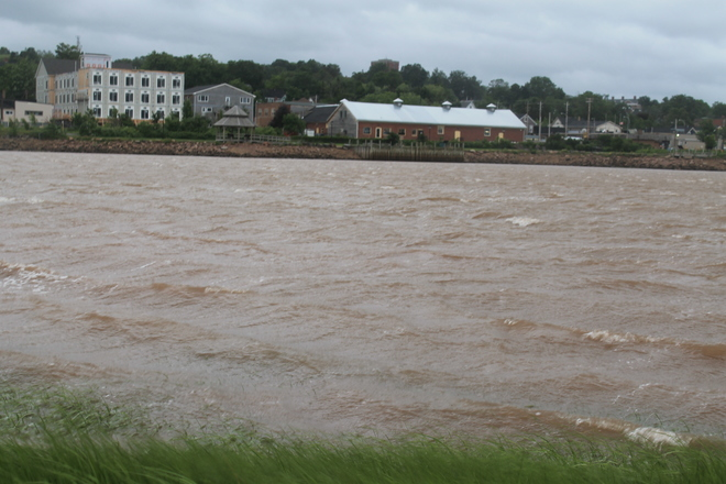 Wild Arthur hits Nova Scotia's Wolfville Harbour Dykeland Street, Wolfville, NS B4P 2A1, Canada