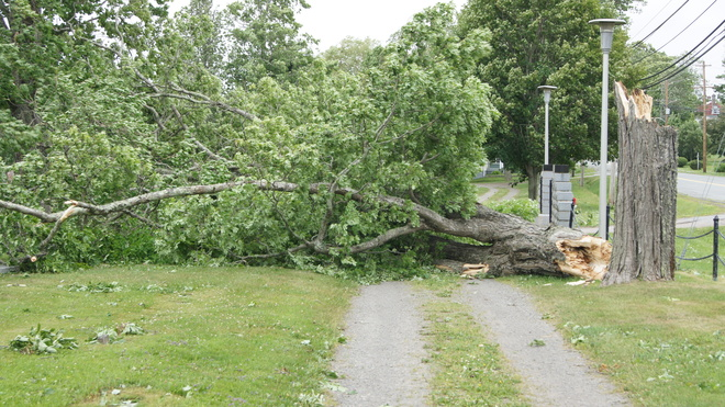 Hurricane Arthur 2014 Windsor, Nova Scotia
