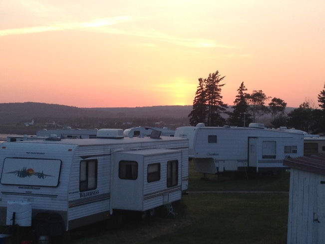 Campground Sunset Five Islands, NS
