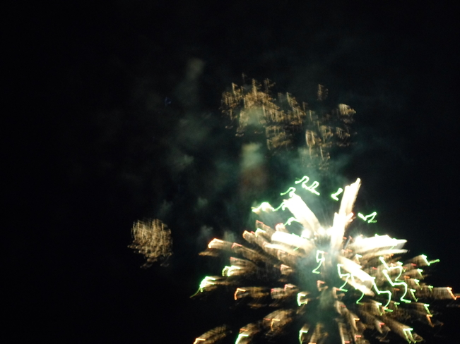 FIRE WORKS/on CANADA DAY/E.L. Elliot Lake, Ontario Canada