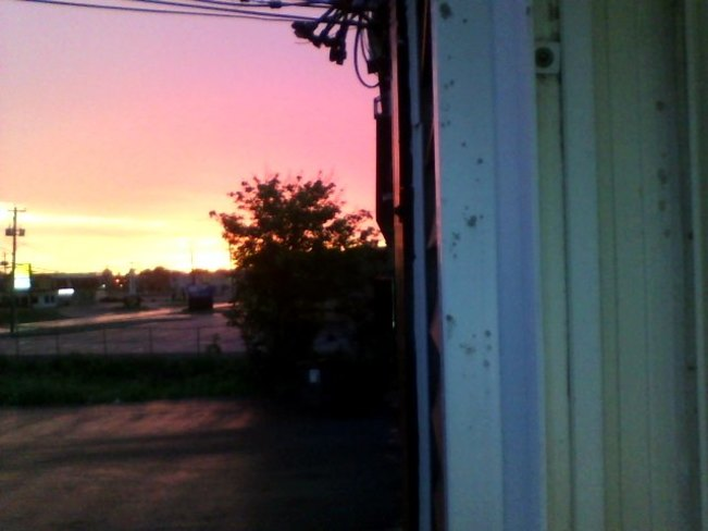 pink sky at night is a sailors delight pink sky in morning is a sailors warning O'Leary Avenue, St. John's, NL