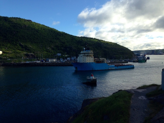 boat in the narrows St. John's, Newfoundland and Labrador Canada