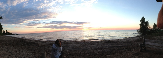A panoramic view from our beach! Lambton Shores, ON