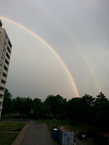 dbl rainbow Burlington, Ontario Canada