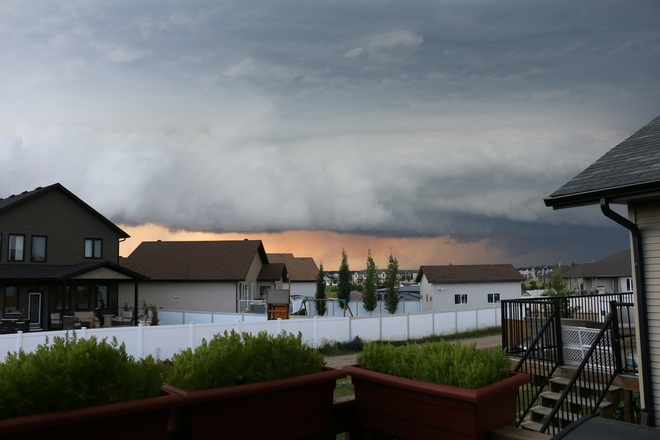 Just another weird weather-day in Red Deer! Red Deer, AB