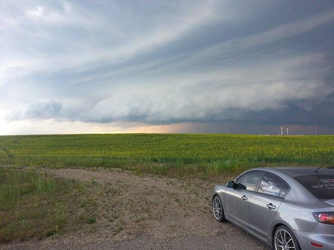 Central AB Severe weather Storm chase - Twisted Chasers Ronnie & Dean Stettler, AB