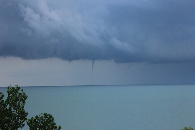 Lake Erie - Water Spouts Colchester, Essex, Ontario