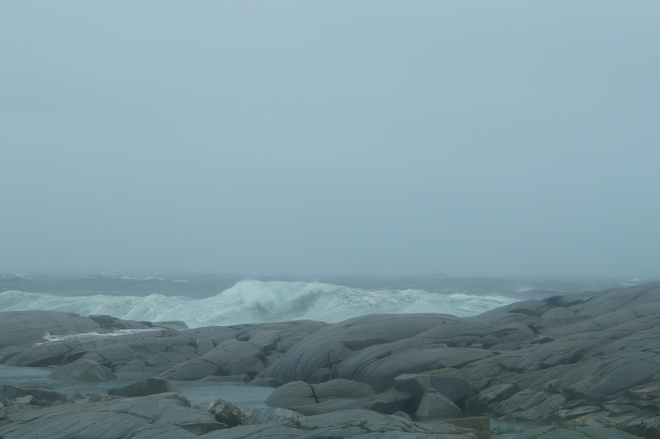 tropical storm Arther Peggys Cove, NS