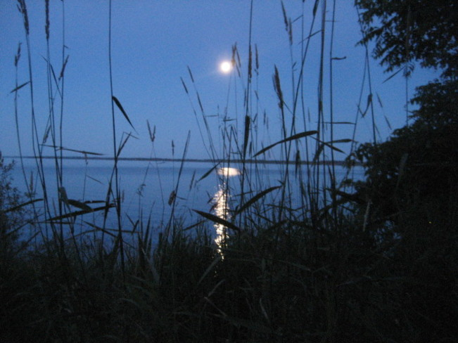 Full moon on the water Howe Island, Frontenac Islands, ON