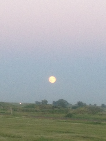 super moon Brooks, Alberta Canada