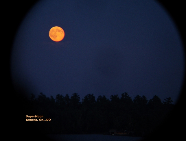 SuperMoon Glowing Over Lake Kenora, ON