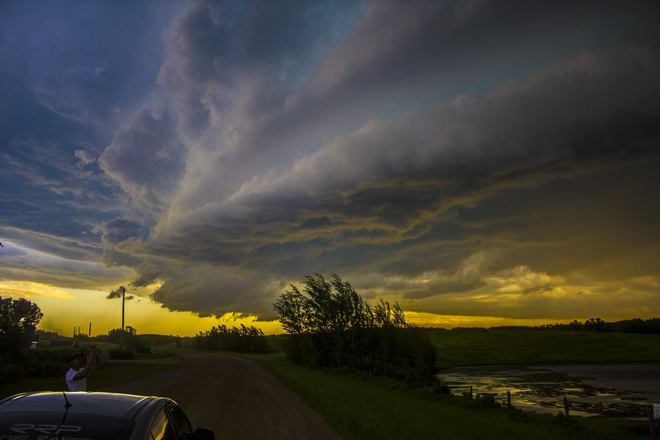 July 9 2014, more photos of severe weather in AB Joffre, AB