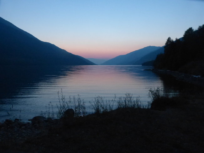 sunset north of revelstoke behind the dam Revelstoke, BC
