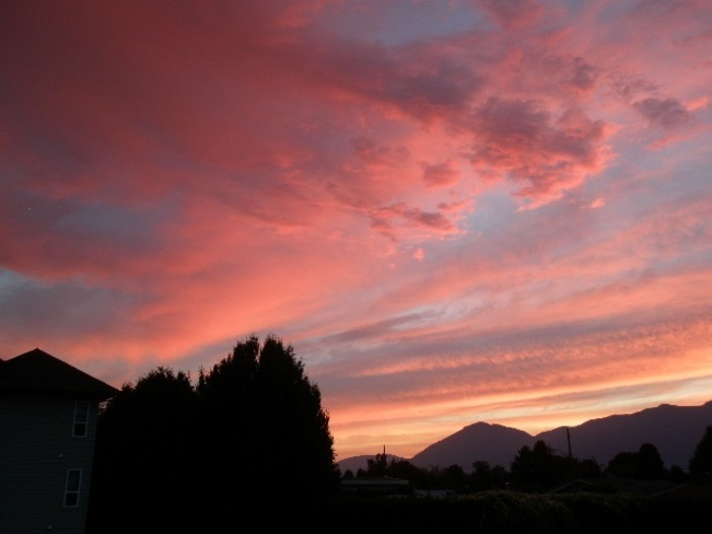 Chilliwack skyline on a hot Sunday night Chilliwack, BC