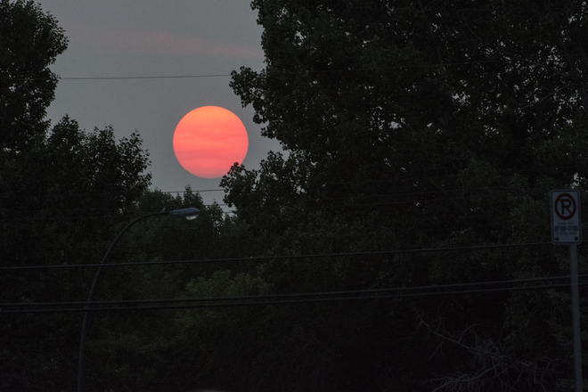 Red Moon from Forest Fires Calgary, AB