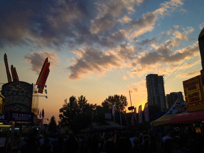 Last sunset at the Calgary Stampede Calgary, AB