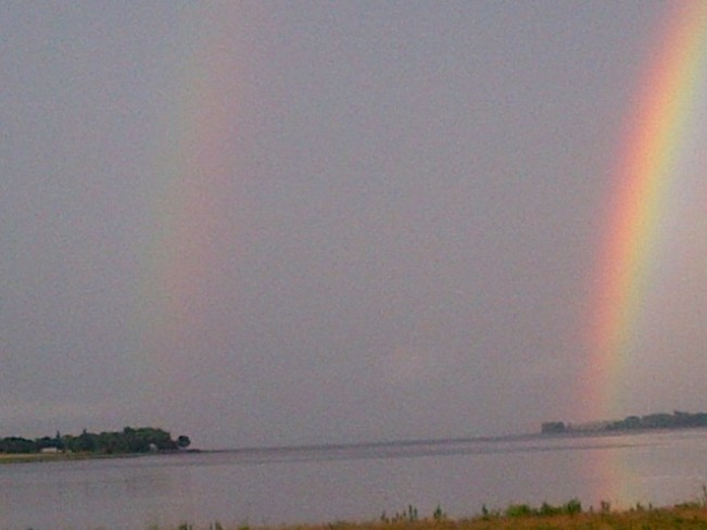 Rainbows over the West River PEI West River, Prince Edward Island