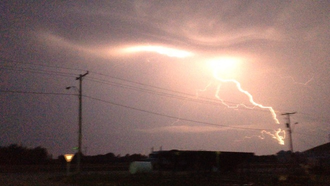 cool lightning Young, Saskatchewan Canada