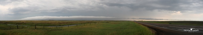 Roll Cloud Pano July 17 2014 Hanna, AB
