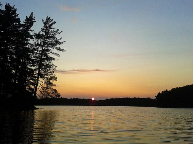 Sunset on Butterfly Lake Muskoka Lakes, ON
