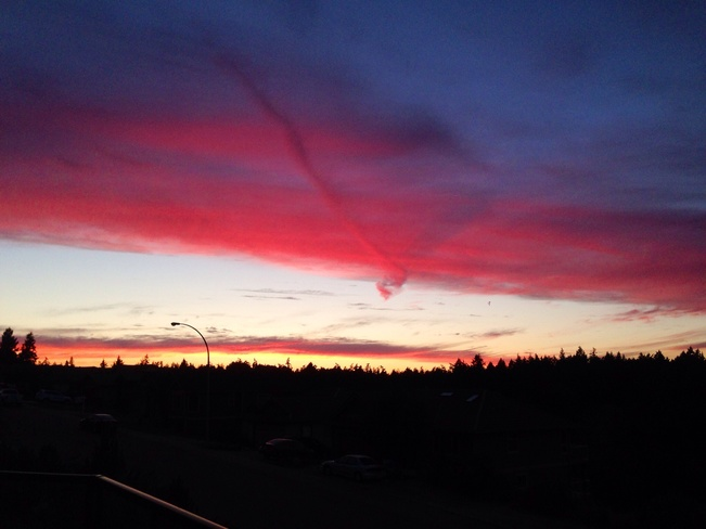 Nanaimo evening sky. Nanaimo, British Columbia Canada