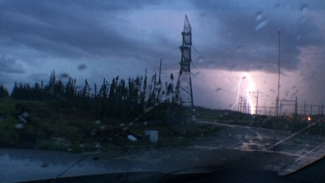 lightning strike . Fort McMurray, Alberta Canada