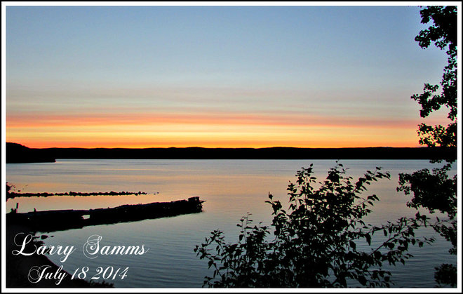 """Evening Sky"" South Brook, Newfoundland and Labrador Canada"