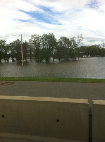 high water levels Brandon, Manitoba Canada