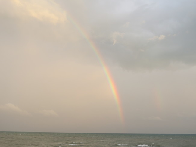 Rainbow after today's rain Long Point, ON