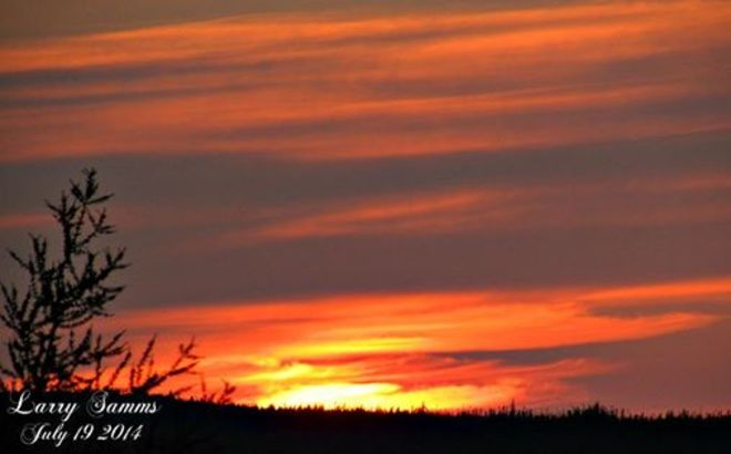 """Sunset July 19"" Springdale, Newfoundland and Labrador Canada"