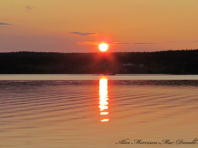 Lovely Sunset Georges River, NS