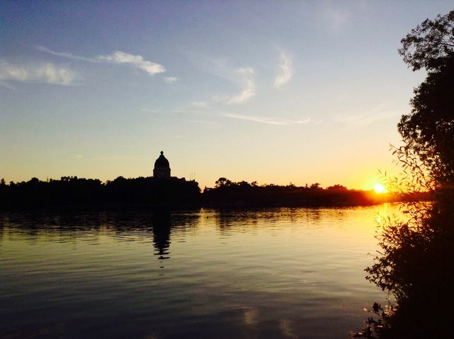 Sunset at Wascana Park Regina, Saskatchewan Canada
