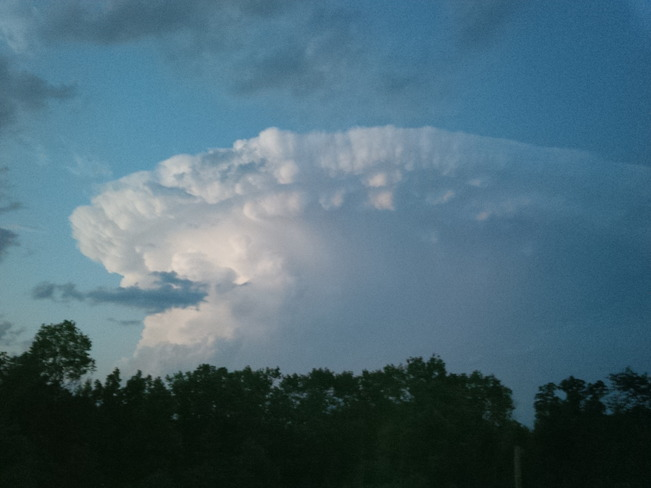 Mushroom cloud Manitou Rapids 11, Rainy River District, ON