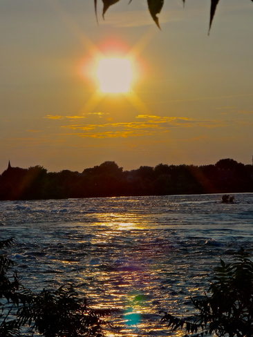 *** View of Lasalle *** ****Boating on the St-Lawrence river in Lachine Rapids****