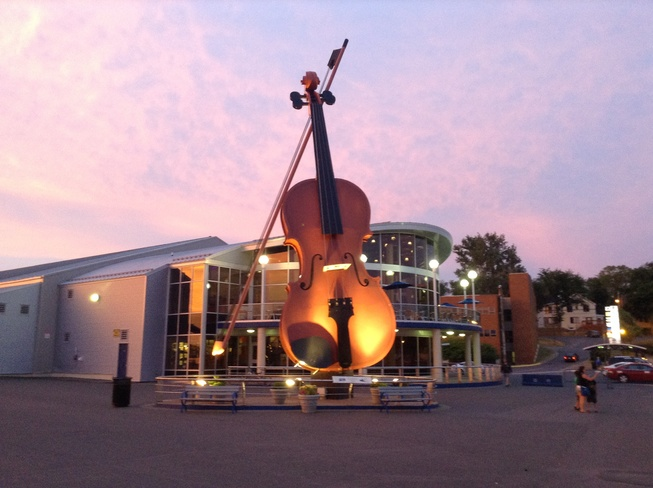 Big Fiddle during Warm Evening Sydney, Nova Scotia Canada