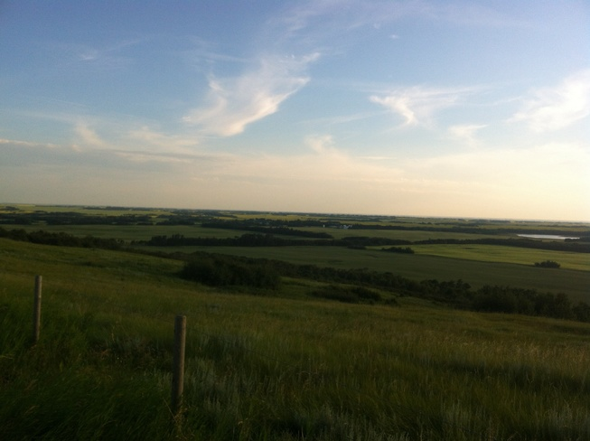 the view for Sick Man Hill Vegreville, Alberta Canada