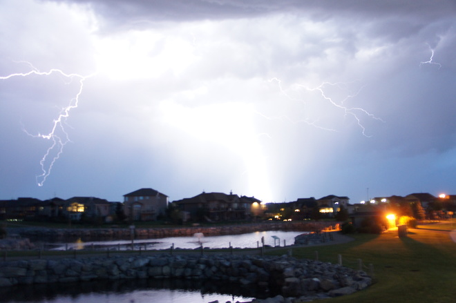Light show in Lethbridge Lethbridge, AB