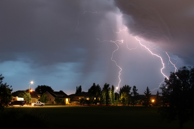 Lightning Storm Lethbridge, AB