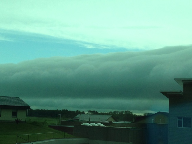 shelf cloud Prince Albert, Saskatchewan Canada