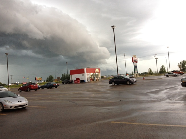 Weather moving in. Moose Jaw, Saskatchewan