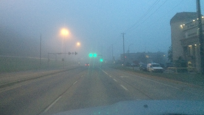 Very foggy this morning Fort McMurray, Alberta Canada