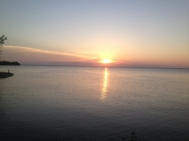 Lake Manitoba Sunset Steep Rock, Manitoba Canada